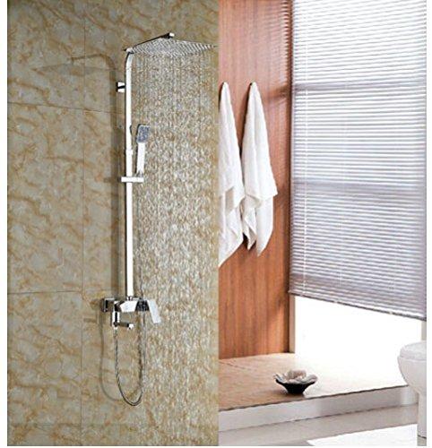 Gowe Single Lever Bathroom Tub Shower Units Brass Chrome Finish Shower Set W/Hand Shower Mixer Faucet 0