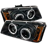 Spyder Auto PRO-YD-CS03-AM-BK Chevy Silverado 1500/2500/3500 Black Halo LED Projector Headlight with Replaceable LEDs