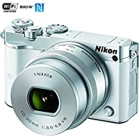Nikon 1 J5 Digital Camera w/ NIKKOR 10-30mm f/3.5-5.6 PD Zoom Lens White (27708B) - (Certified Refurbished)