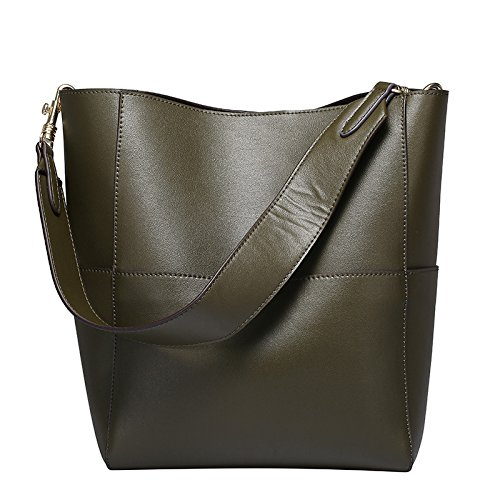 GUANGMING77 Ms_Bag Tasche Tasche Damen Mode Ein Burst Schaufel Olive green 4leLFk