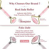 Rosejoice Pink Rose Quartz Jade Roller for