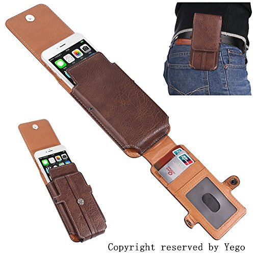 Esing Universal Belt Clip PU Leather Wallet Case for iPhone 6 6s 7 8 plus&Samsung galaxy S6 S7 edge plus Note 4 5 Pouch Carrying Phone Holster (Phone Coffee)