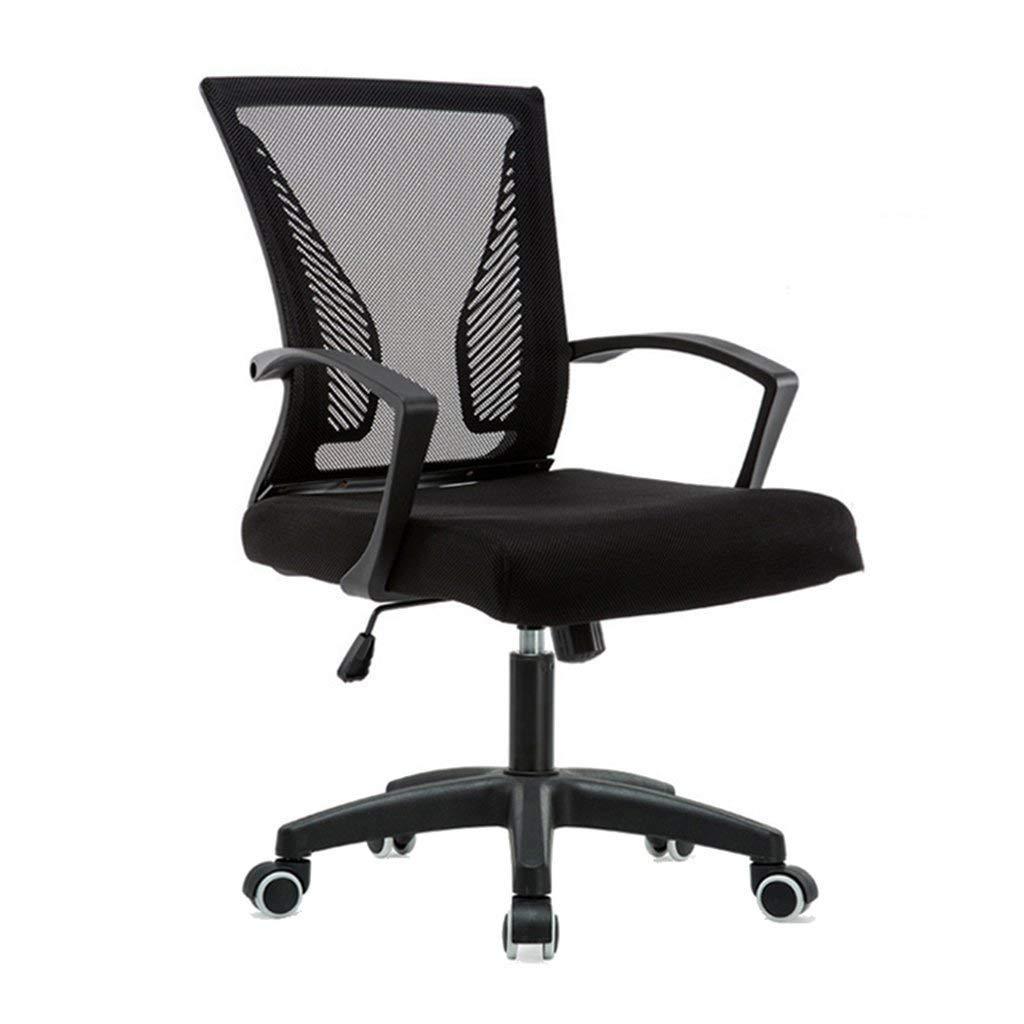 HIZLJJ スツールチェアボスオフィス製品人間工学に基づいた作品製図チェア調節可能な高さリクライニングクッションシート360°回転タスクチェア (Color : Black) B07TLKS6ZM Black