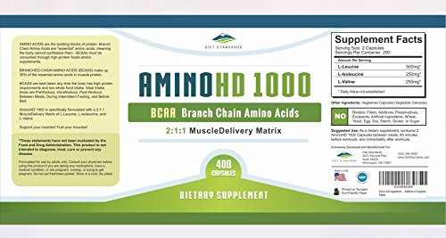 Diet Standards OmegaHD DHA Supplement (Formerly AminoHD BCAA) 450 mg DHA Vitamin (Omega 3 Supplements) 100% Plant Based with Algae Oil 180 Vegan Softgels