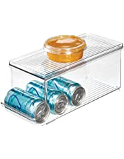 InterDesign Soda Can Holder for Refrigerator, Kitchen Cabinet, Pantry - Clear