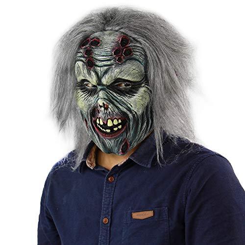 Walking Dead Mummy Latex Mask Halloween Alien Gruesome Costume Adult Horror Vampire Devil Bloody Monster Cosplay Zombie -