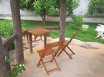 Jard INION Balcón Juego de mesa plegable, mesa colgante y 2 ...
