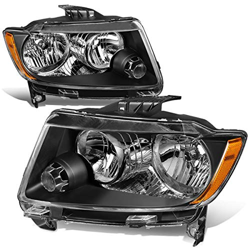 For 11-13 Jeep Grand Cherokee WK2 Pair Black Housing Amber Corner Front Bumper Headlight/Lamps