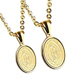 JAJAFOOK Lovers Stainless Steel Necklaces Our Lady of Review and Comparison