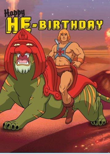 He Man Happy He Birthday Greetings Card Amazon Kitchen Home