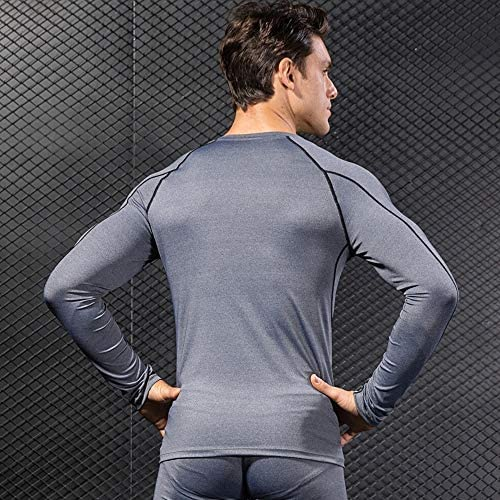 2 Pack Mens Thermal Underwear Top Winter Warm Long Sleeve Shirt Wicking Base Layer Cold Weather