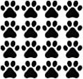 Dog Paw Prints - Matte Finish Vinyl Decal Sticker for Walls, Electronics (Color Variations Available)