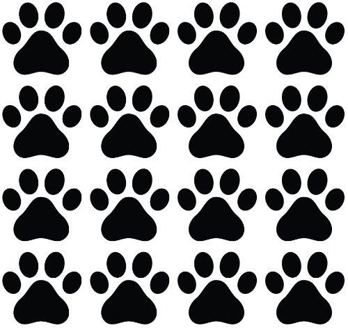 (Yadda-Yadda Design Co. 16 Dog Pawprints Vinyl Wall Decal - Black)