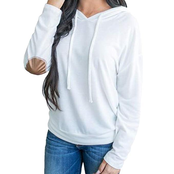 Hibote Chaqueta Mujer Capucha Oversize - Capucha Rayas Algodón Slimfit Abrigos Sueltos Casual Manga Larga Blanco Azul M-5XL: Amazon.es: Ropa y accesorios