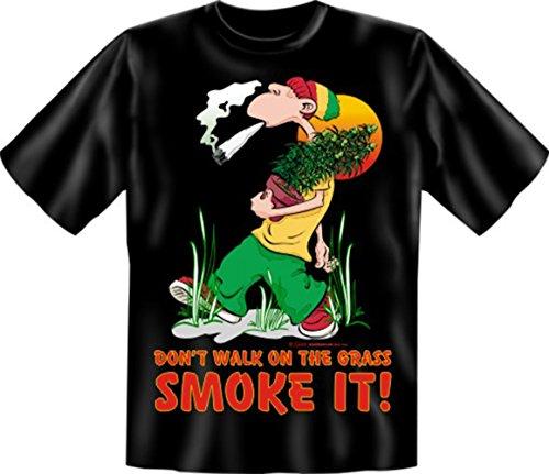 T-Shirt - Don't walk on it, smoke it - Lustiges Sprüche Shirt als Geschenk für Kiffer mit Humor