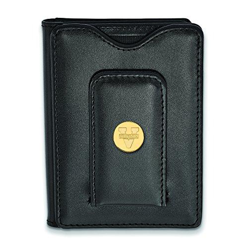 (Logoart Sterling Silver Gp University Of Virginia Black Leather Wallet)