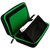 TAKECASE New Nintendo 3DS XL and 2DS XL Carrying Case - Fits Wall Charger - Includes XL Stylus, 16 Game Storage, Accessories Pocket, Hard Shell and Screen Cloth - Green/Black