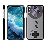 TurtleArmor | Compatible for Apple iPhone X Case | Apple iPhone 10 Case [Slim Duo] Hard Protector Cover Slim Clip On Case on Black – Classic Game Controller