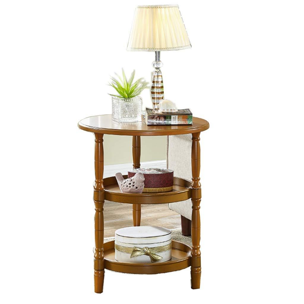 三層円形収納ラックシンプルな小さなコーヒーテーブルリビングルームのソファーサイドテーブル B07RPN1Y6T