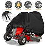 Tvird Lawn Mower Cover, Riding Lawn Mower Cover Waterproof Heavy-Duty | Features Double Stitched Seams & Interior Waterproof&UV Protection Coating | for Up to 54'' Decks