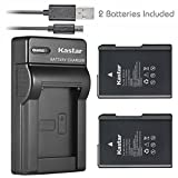 Kastar Battery (X2) & Slim USB Charger for Nikon EN-EL14, EN-EL14a, ENEL14, MH-24 and Nikon Coolpix P7000 P7100 P7700 P7800, D3100, D3200, D3300, D3400, D5100, D5200, D5300 DSLR, Df DSLR, D5600 Camera