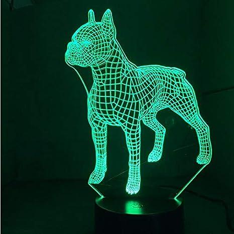 Luz Nocturna Infantil Lámpara 3D Linda Led De Luz Nocturna 7 ...