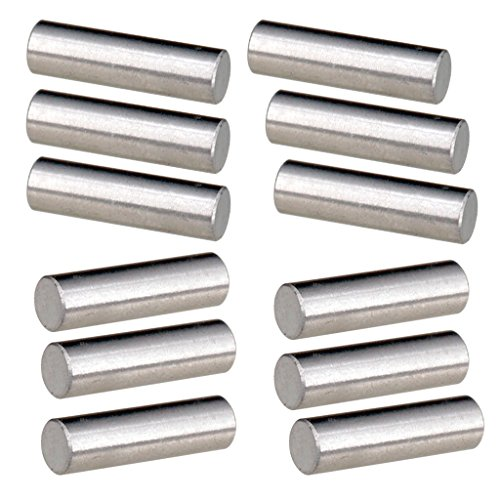Baoblaze Pack of 12 Alnico 5 Pickup Polepiece Cylinder Magnet Slug Rods for Electric Guitar Replacement