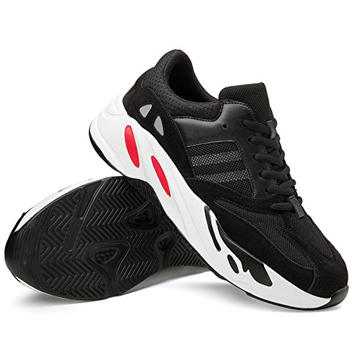 TUOKING Herren Laufschuhe Atmungsaktive Sneakers Fashion Schuhe Leichte Sportschuhe Casual Gym Turnschuhe Schwarz