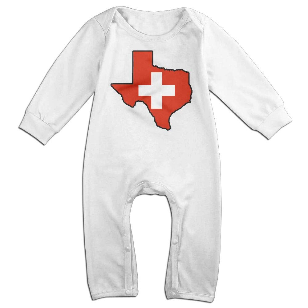 Mri-le1 Baby Boy Girl Bodysuits Switzerland Flag Texas Map Baby Rompers