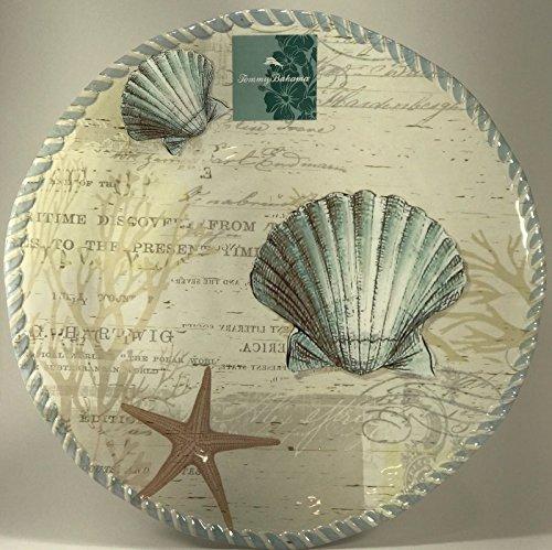 Tommy Bahama Round Platter Seashore Seashell 16