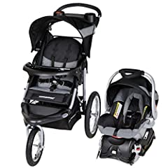 The Baby Trend Expedition Travel System comes complete with the Expedition Baby Trend 3 Wheel Jogging Stroller and the Baby Trend Flex Lock 5-30 pound infant car seat with lock in car base. The stroller features a lockable front swivel wheel ...