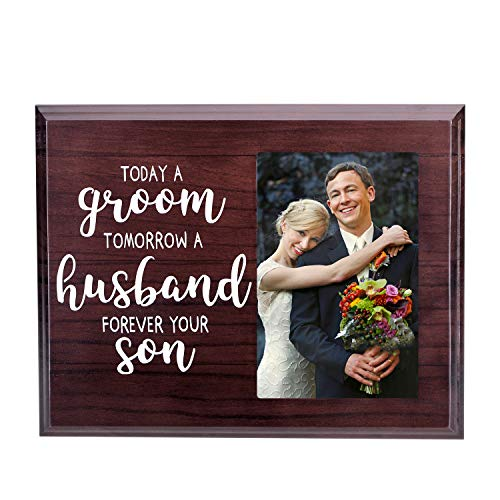 Denois Mother of The Groom Gift, Wedding Picture Frame - Today a Groom, Tomorrow a Husband, Forever Your Son Picture Frame - for 4x6 Inches Photo (Groom Gift The For Wedding)