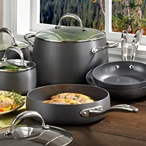 Earth Pan Hard Anodized, 10pc Cookware Set