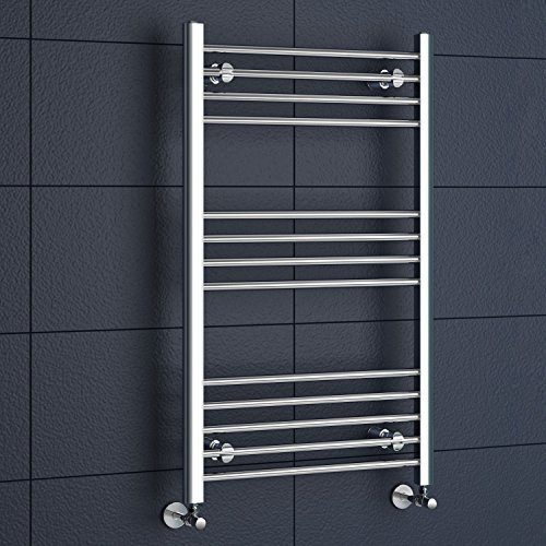 iBathUK | 1000 x 600 Straight Heated Towel Rail Chrome Bathroom Radiator - All Sizes by - Straight Heated Rail Towel