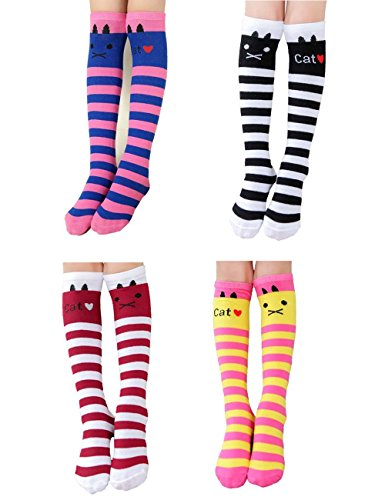 Kids Socks Girls' School Uniform Knee High Socks FS (4 colors) (School High Socks)