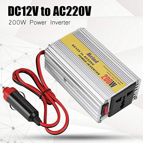 Auto Wechselrichter,DC zu AC Wechselrichter 200W DC12V zu AC220V Sinus Wechselrichter Modifizierter Sinus Hohe Umwandlungsrate single USB Power Inverter 50/60 Hz,Sinuswelle Wechselrichter