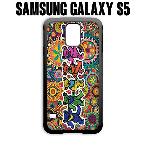 Phone Case Grateful Dead and Dancing Bears for Samsung Galaxy S5 Rubber Black (Ships from CA)
