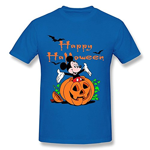 WunoD Men's Happy Halloween Mickey Mouse T-shirt Size S -