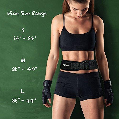 AZSPORT Weight Lifting Belt for Men and Women, Black