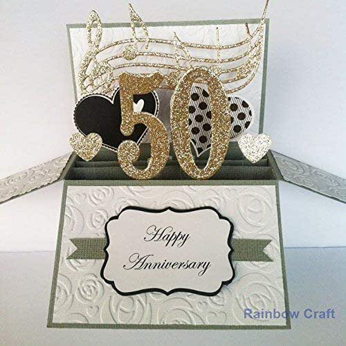 Unique Golden Wedding Anniversary Gifts: Amazon.com: Year Number Personalized Anniversary Card