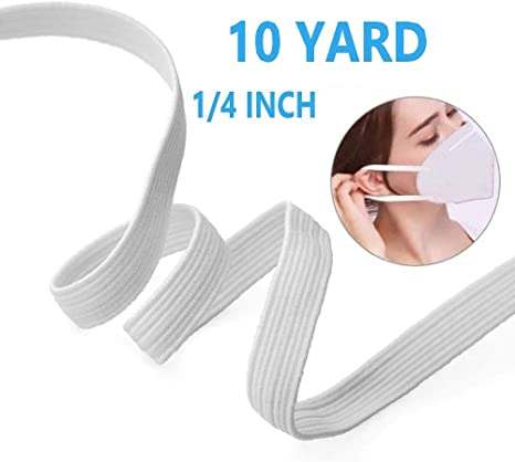 Amazon Com White Flat Elastic String Cord Earloop Bands For Face