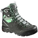 Salomon W's X-ALP Mountain GTX Boots Asphalt/Light Titanium/Jade Green 8