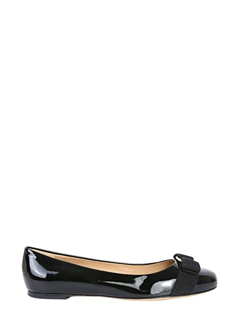 30b7f985b2 SALVATORE FERRAGAMO Ballerine Donna 574556 Pelle Nero: Amazon.it: Scarpe e  borse