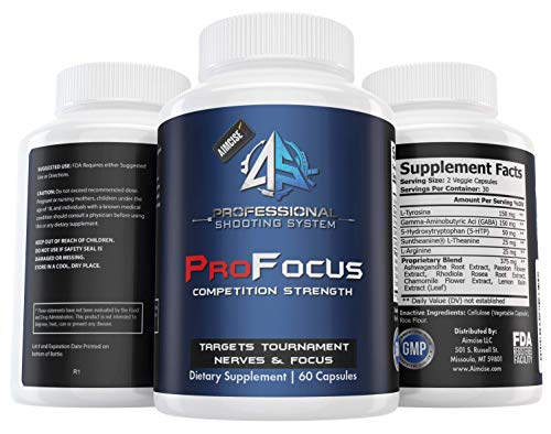 Aimcise Performance ProFocus Sports Competitor Supplement for Increased Focus and decreased Nerves