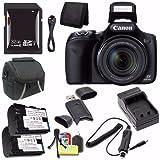 Cheap Canon PowerShot SX530 HS Digital Camera (Black) (International Model) + NB-6L Battery + External Charger + 32GB SDHC Card + Case + Card Reader Saver Bundle