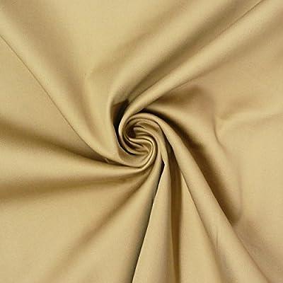 Tela de algodón, género al metro satén Spandex Camel 1,45 m ancho ...