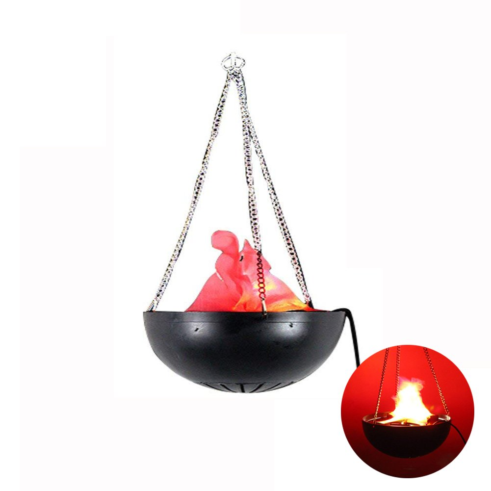 110V LED Hanging Flame Light Electric Simulated Cauldron Flame Effect Light Torch Light Stage Lamp Prop for Bar, Night Clubs, Back Yard, Halloween Christmas Party Decoration By Rely2016
