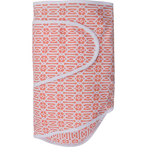 Miracle Blanket Baby Swaddle, Coral Lattice