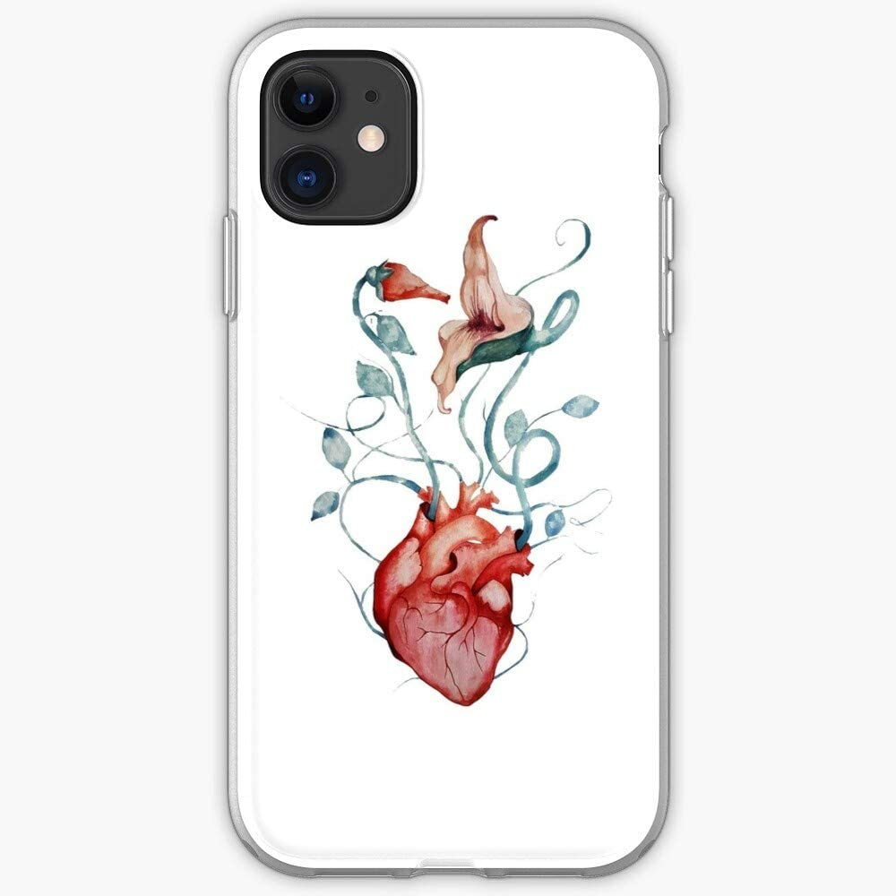 Amazon Com Music Watercolor Painting Art Wall Rock Psychedelic The Fan Heart Floyd Pink Anatomical Flower Phone Case For Iphone 11 Iphone 11 Pro Iphone Xr Iphone 7 8 Se 2020
