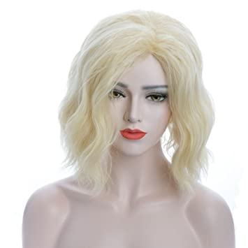 Image Unavailable. Image not available for. Color  Karlery Women s Short  Bob Wave Light Blonde Wig Halloween Cosplay ... 906af9191